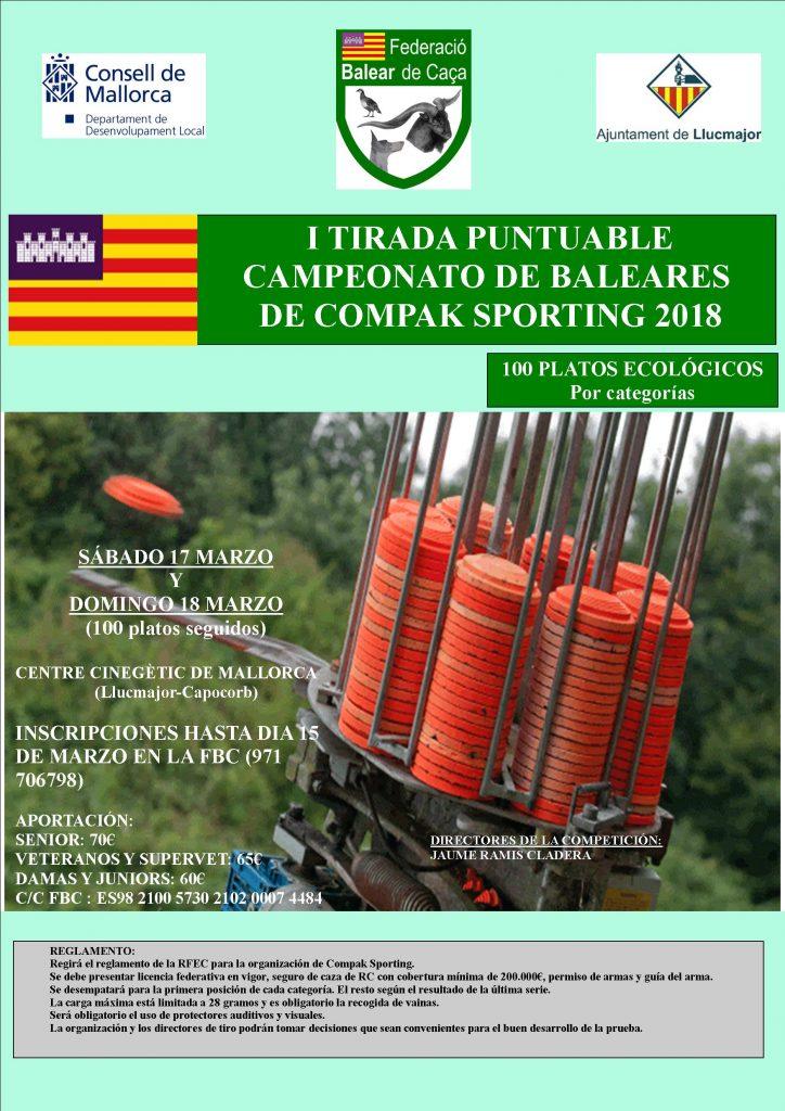 I Tirada Puntuable del Campeonato de Baleares de Compak Sporting