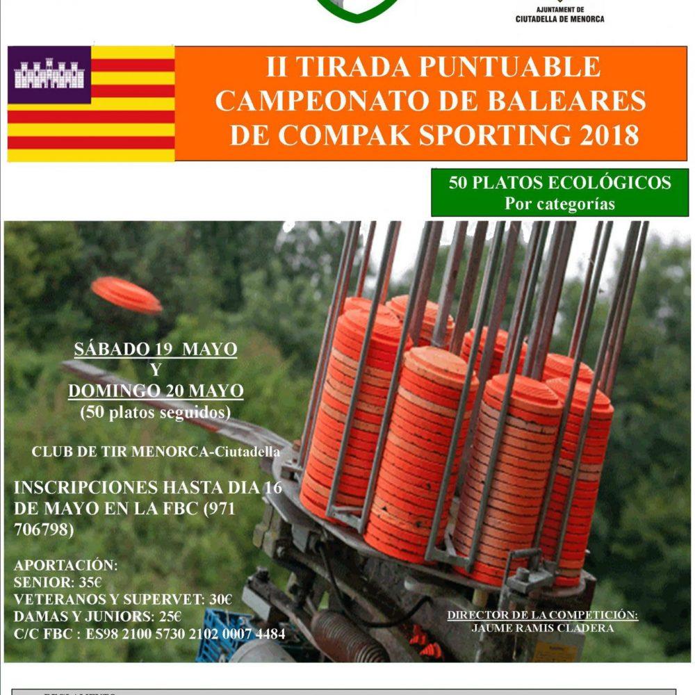 II Tirada puntuable del Campeonato de Baleares de Compak Sporting 2018