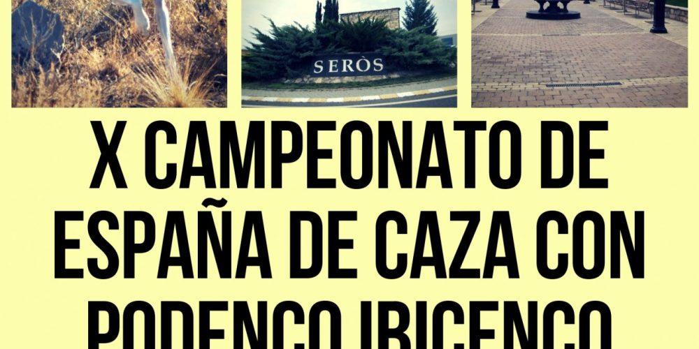 Serós (Lleida) albergará el próximo 6 de octubre el X Campeonato de España de Caza con Podenco Ibicenco