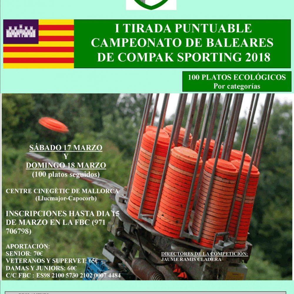 I Tirada Puntuable del Campeonato de Baleares de Compak Sporting 2018