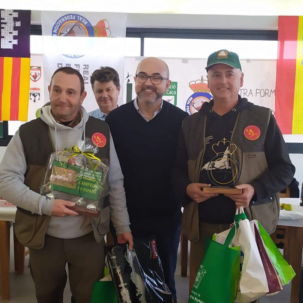Los podencos ibicencos de los catalanes Adriá Anguera y Agustí Forcadell, nuevos campeones de España de la modalidad