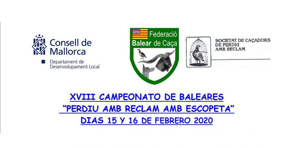 Abierta la inscripción al XVIII Campeonato de Baleares de «Perdiu amb reclam amb escopeta»