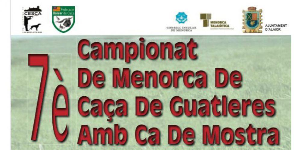 VII Campeonato de Menorca de Caça de Guatleres amb Ca de Mostra