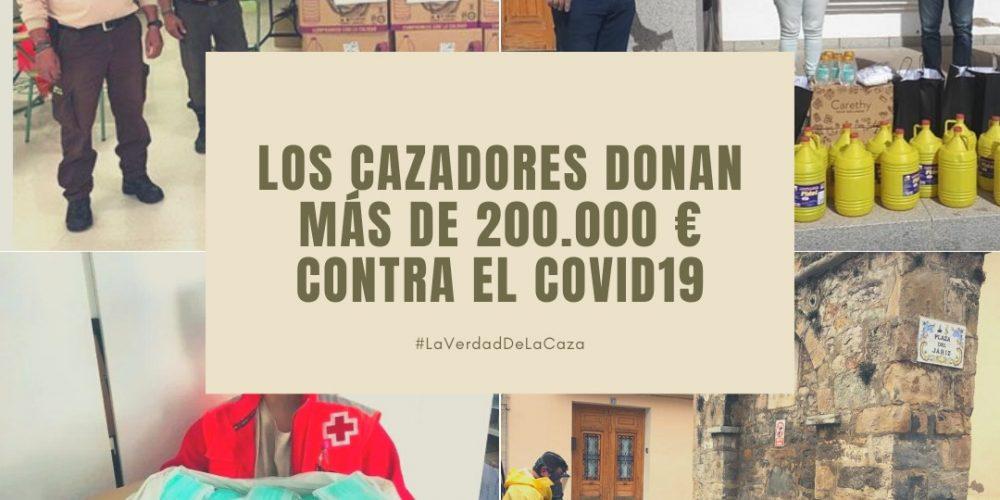 Los cazadores donan más de 200.000 euros contra el COVID-19