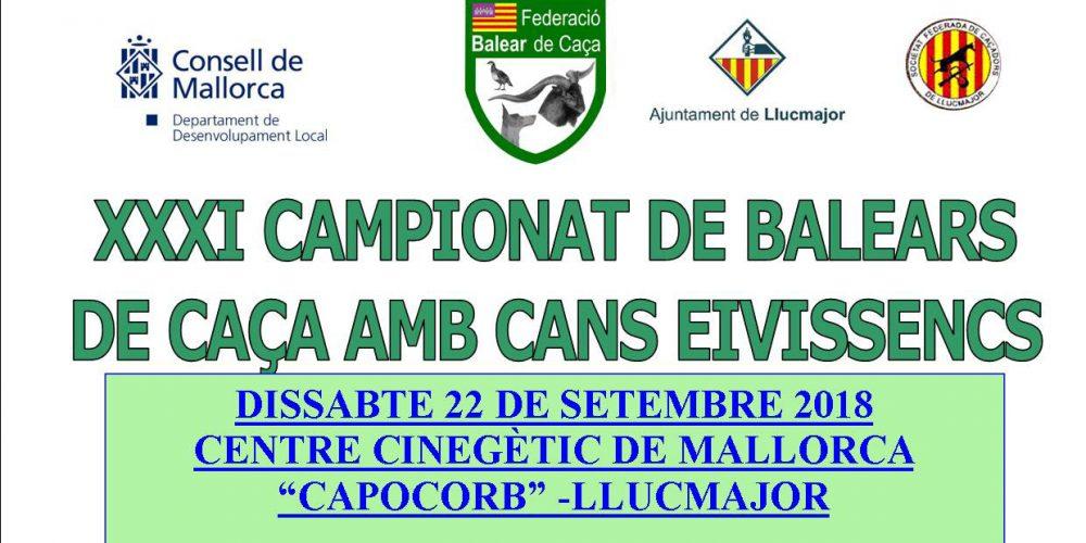 XXXI Campeonato de Baleares de caza con perros ibicencos