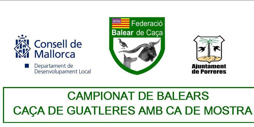 Nuevo Campeonato de Baleares de Caça de Guatleres amb Ca de Mostra
