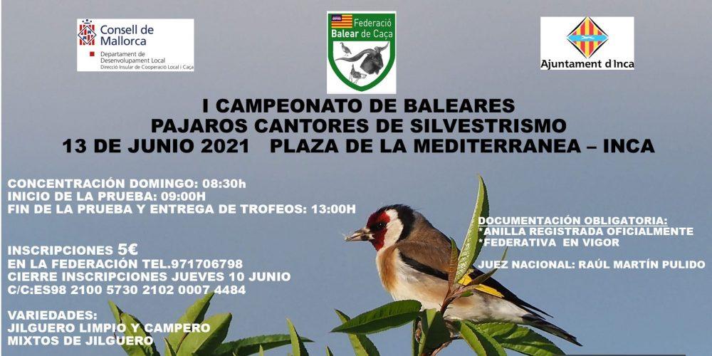 I Campeonato de Baleares de Pájaros Cantores de Silvestrismo